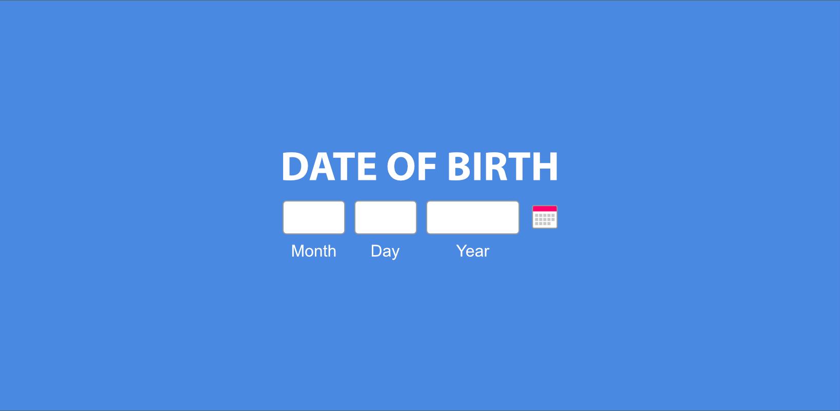 Responsive Date Picker